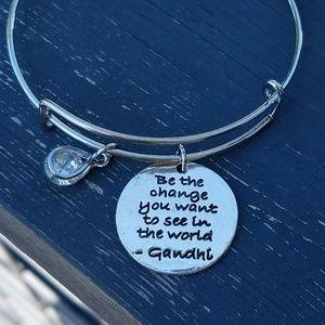 Jewelry - Be the change charm bracelet, inspire bracelet
